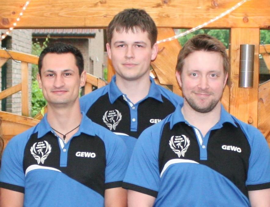 v.l.n.r. Michell Zimmermann, Julien Jahn, Alexander Vogel
